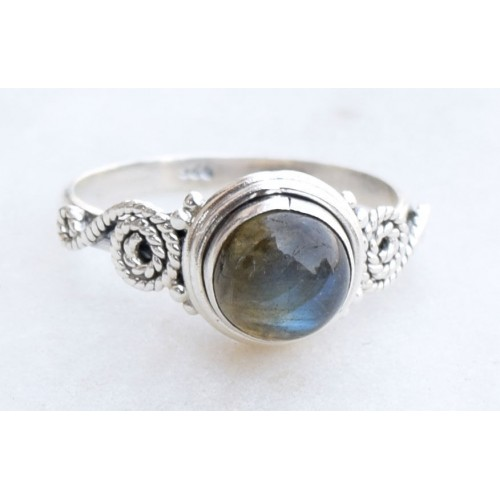 925 SOLID STERLING SILVER LABRADORITE STONE GEMSTONE RING SIZE 5 6 7 8 9 10 11